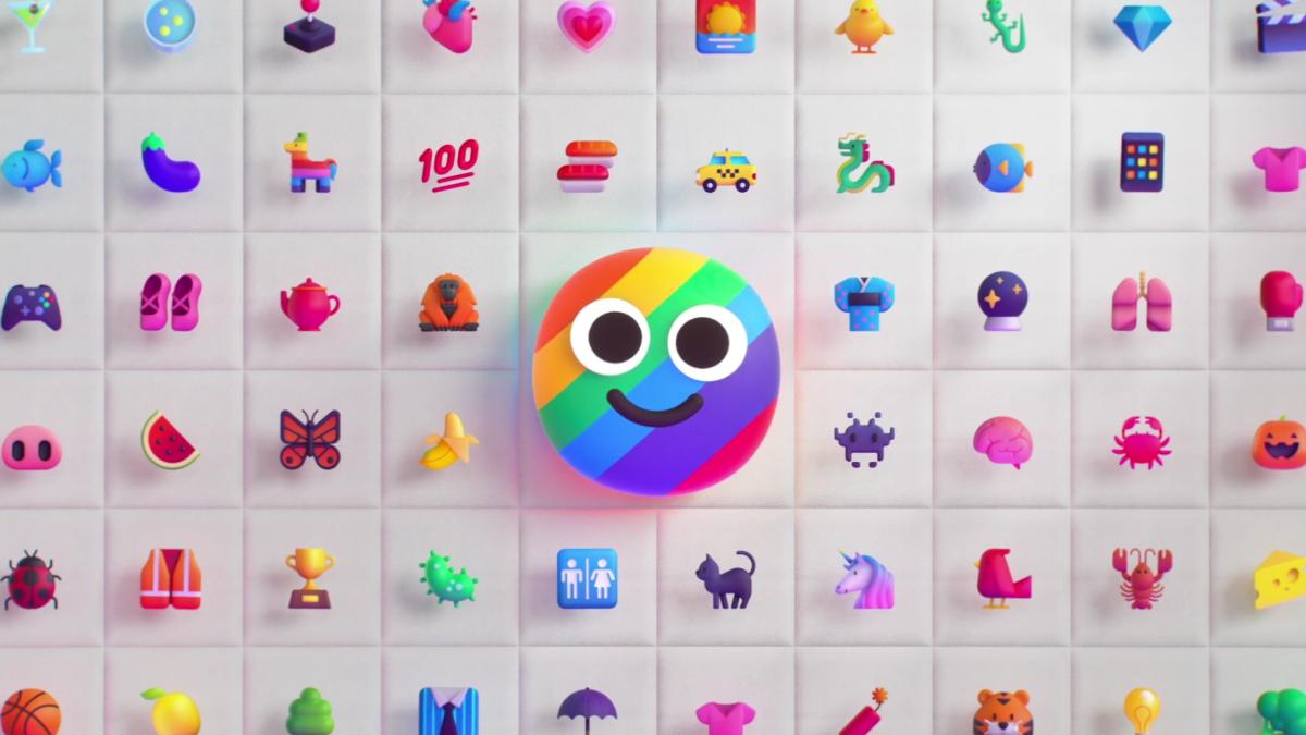 Some of Microsoft's animated emoji for Windows 11.