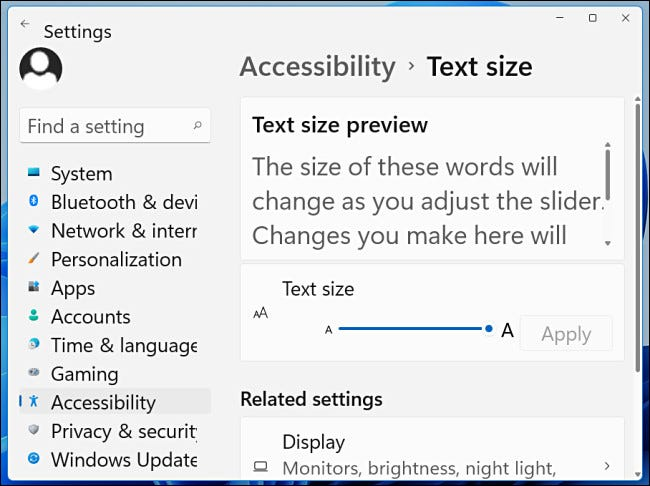 An example of Windows 11 text at 200%.