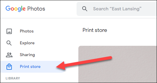 """Go to the """"Print Store"""" tab."""
