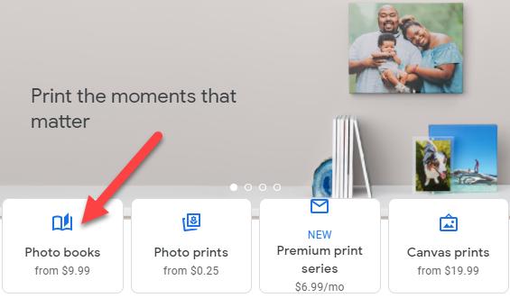 """Select """"Photo Books."""""""
