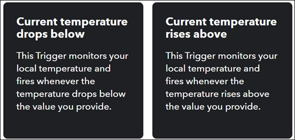 Choose a temperature alert.