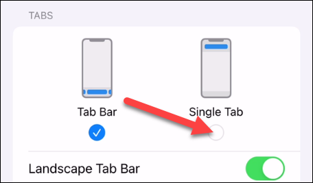 """Switch to """"Single Tab."""""""