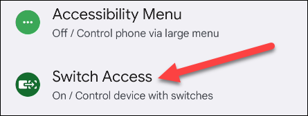 """Select """"Switch Access."""""""