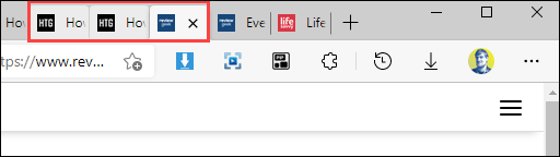 Select multiple tabs.