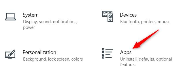 Click Apps.