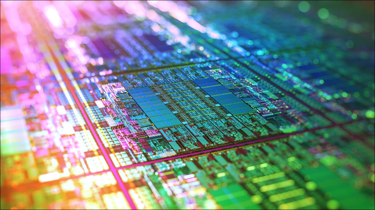 Iridescent silicon microchips in production