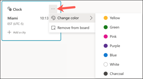 Item color options