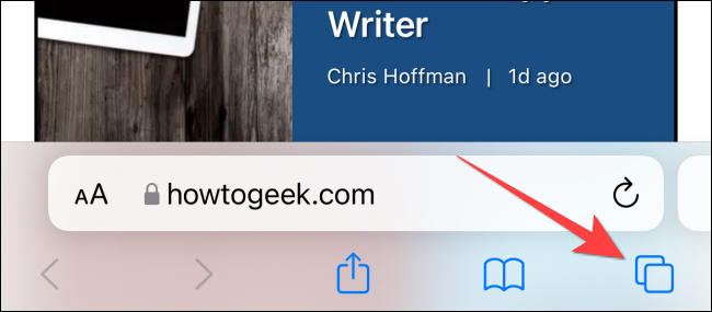 """Long-press the """"Pages"""" button to open a menu."""