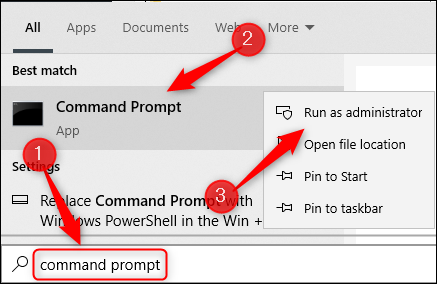 Open Command Prompt as an admin.