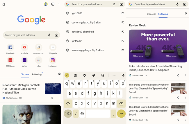 Chrome for Android Material You