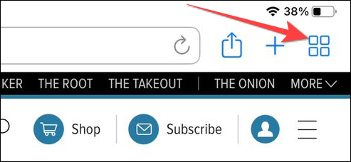 """Long-press the """"Pages"""" buttons (four squares) to open a menu up."""
