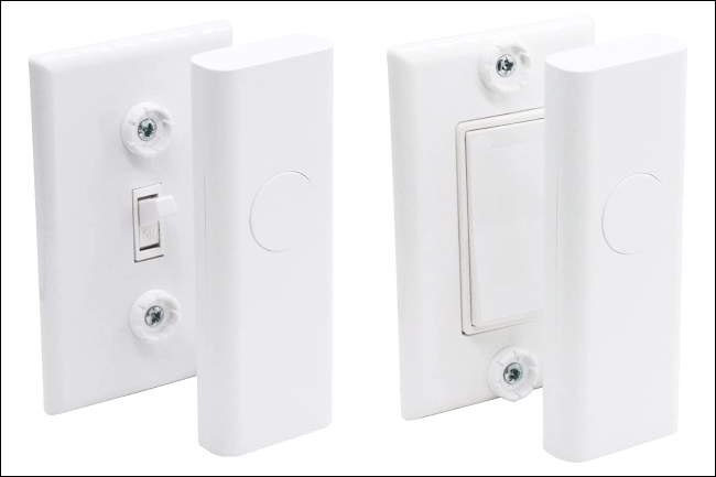 Switch over light switch.