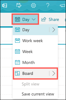 Select Board in the drop-down list