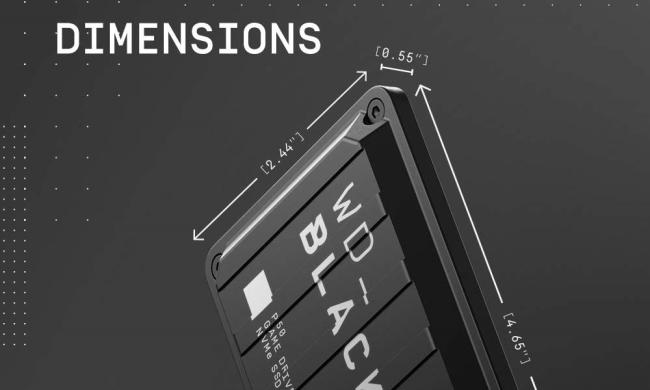 WD Black External SSD Dimensions