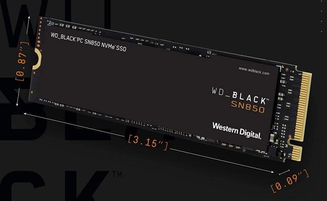 WD Black SSD Dimensions