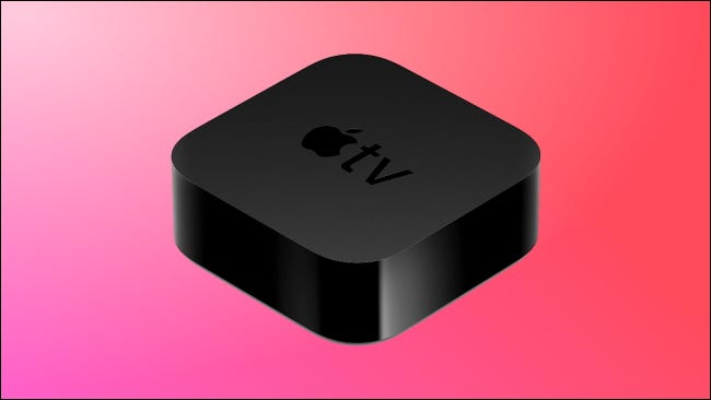 Apple TV 4K on pink background