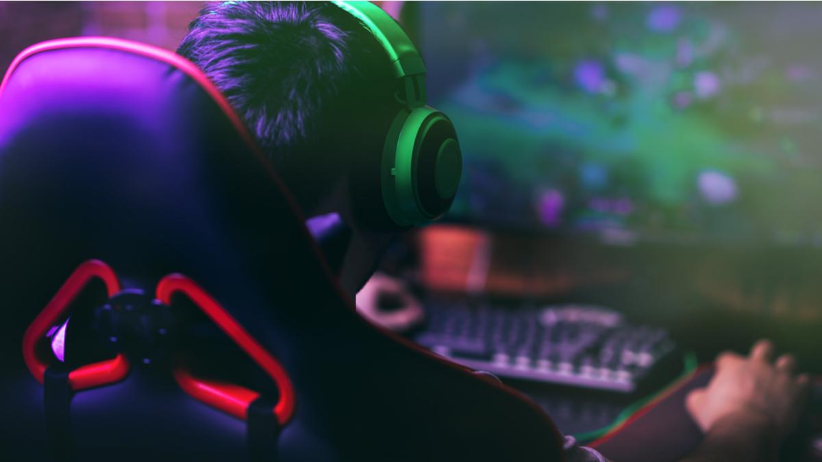 gamer playing on PC