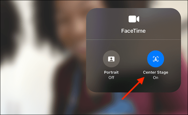 Toggle Center Stage on or off