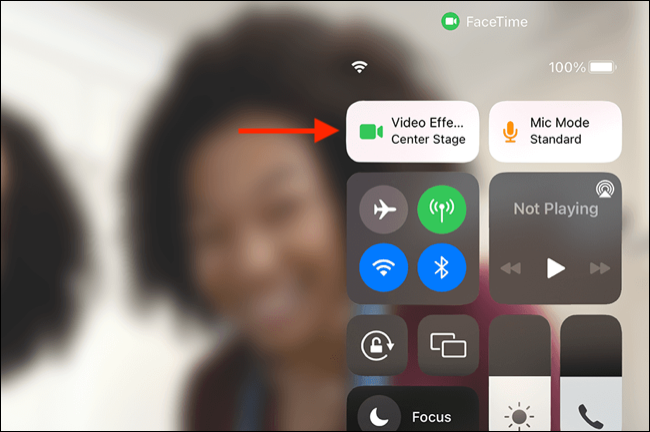 iPad Control Center Video Effects