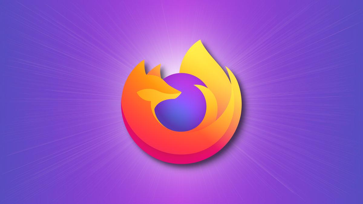Logo di Firefox su sfondo viola