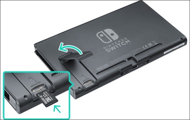 How to add a memory card to your Nintendo Switch