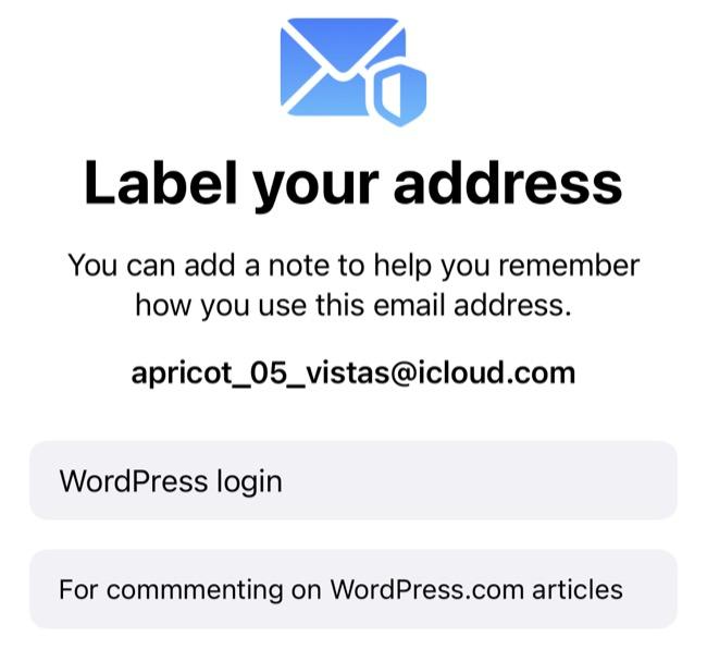 Δημιουργήστε μια νέα διεύθυνση εγγραφής με το Hide My Email