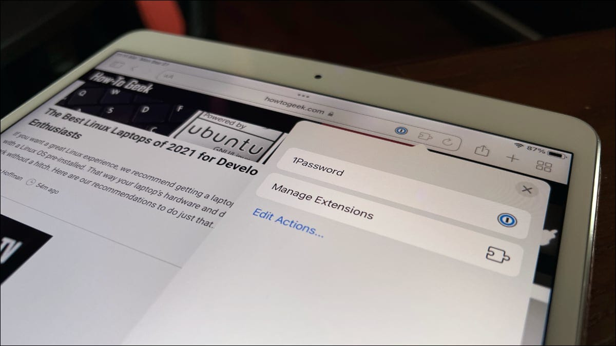 Safari extensions on iPadOS 15