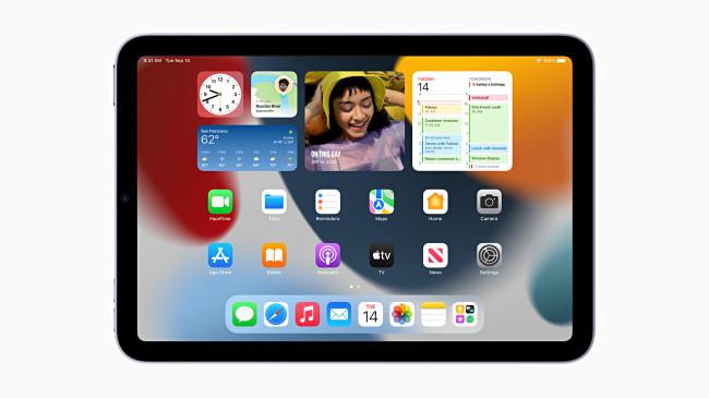 iPad Mini 2021 running iOS 15