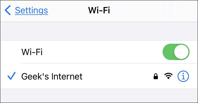 Connecting to the mobile hotspot through iPhone as an example.