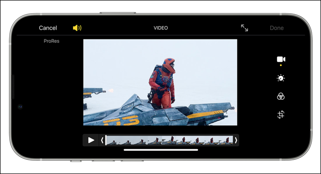 Editando vídeo ProRes no iPhone 13 Pro