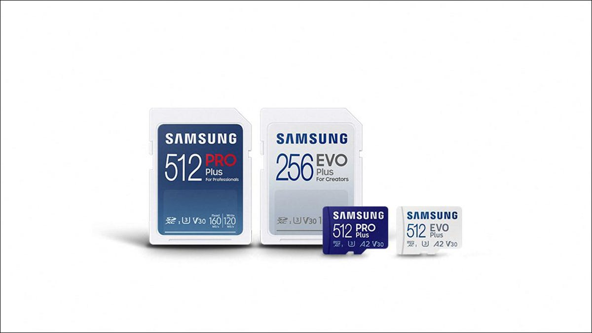 Samsung microSD and SD card