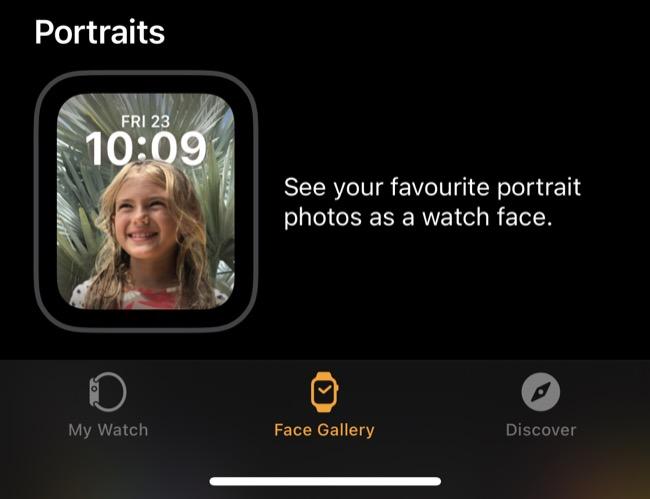 Apple Watch Portraits Watch Face