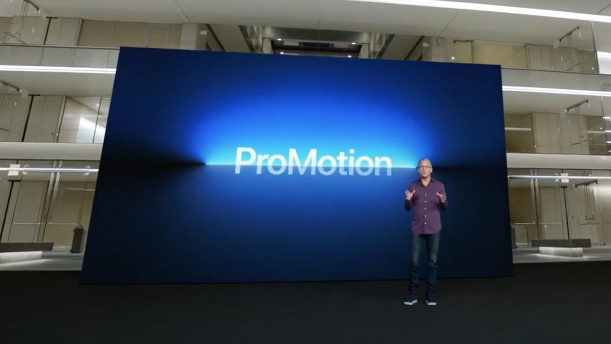 """Evento da Apple 14 de setembro de 2021 com """"ProMotion"""" na tela"""