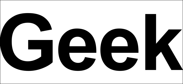 Fonte sem serifa.