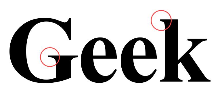 Fonte serif.