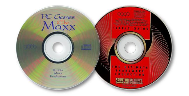 Two shareware CDs