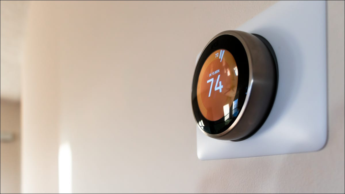 Google Thermostat in use