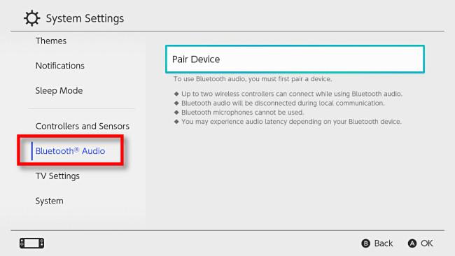 "Select ""Bluetooth Audio"""