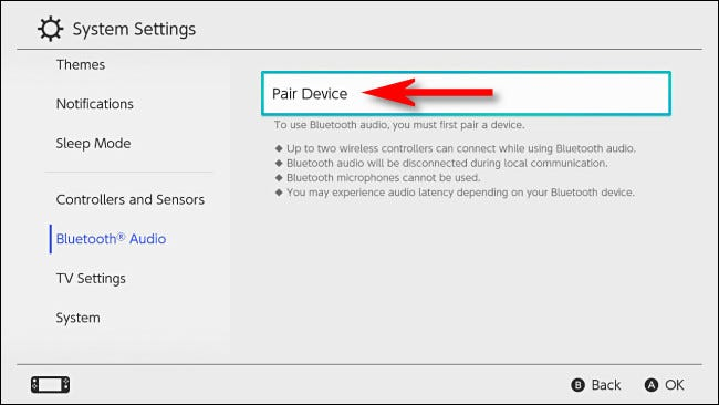 """Select """"Pair Device."""""""
