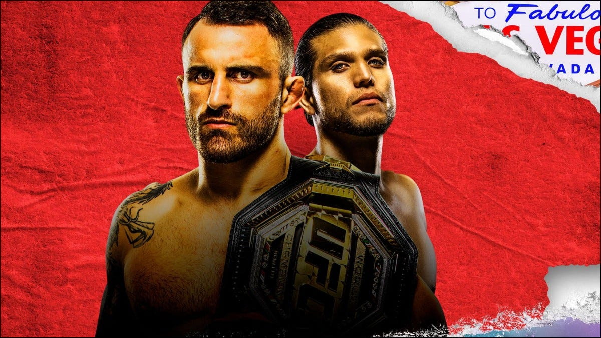 UFC 266 promotional photo showing two fighters