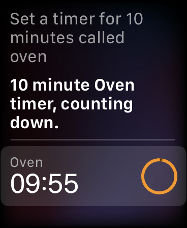 Add Timer to Apple Watch with Siri