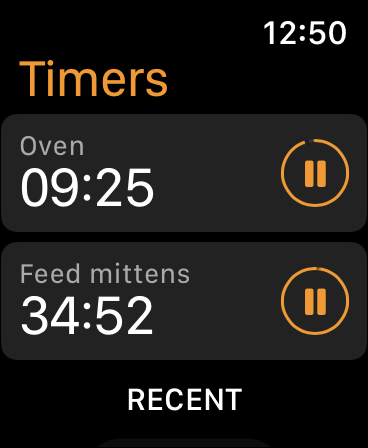 Multiple Timers running on watchOS 8