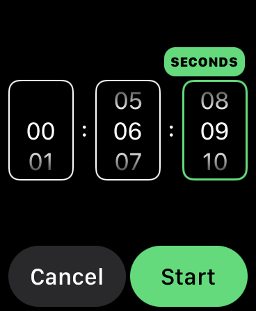 Manually setting a custom Timer in watchOS 8