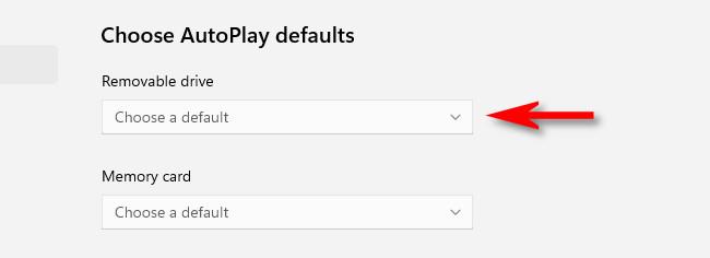 """Click the drop-down menu below """"Removable Drive."""""""