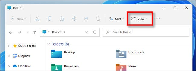 """Click """"View"""" in the toolbar."""