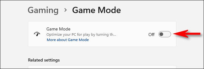 """Flip the switch beside """"Game Mode"""" to """"Off."""""""