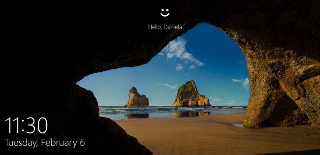 Windows 10 Lock Screen.