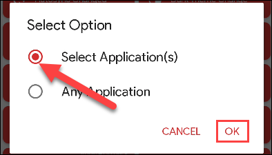 """Tap """"Select Applications."""""""