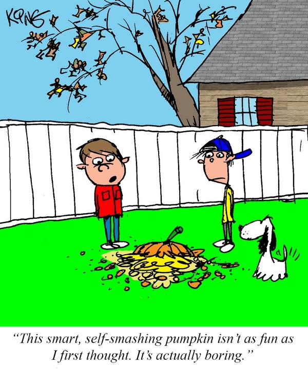 Geek Comic for October 13th — The Smart Pumpkin
