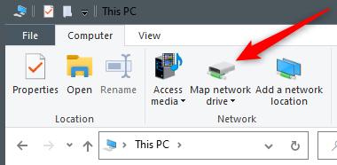 Click Map Network Drive.